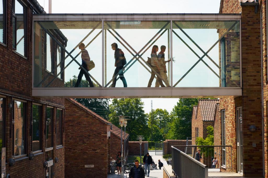 Fuglesangs Allé, Campus Aarhus. Fotograf: Poul Ib Henriksen